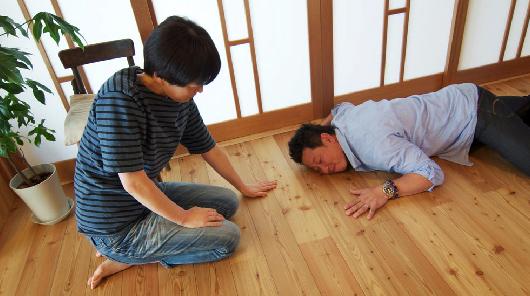 奥様お気に入りの無垢材の床